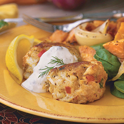 Maryland Crab Cakes With Creamy Caper-Dill SauceRecipe