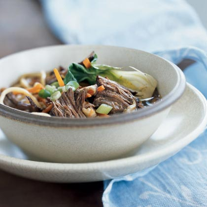 Chinese-Style Stove-Top Pot Roast with Noodles Recipe