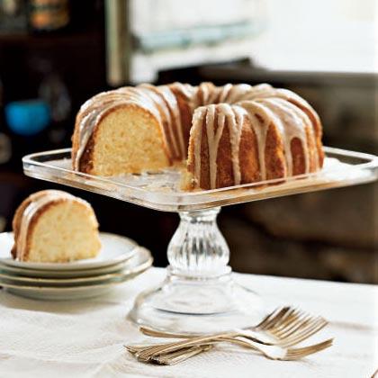 Lemon Pound Cake with Chambord Glaze