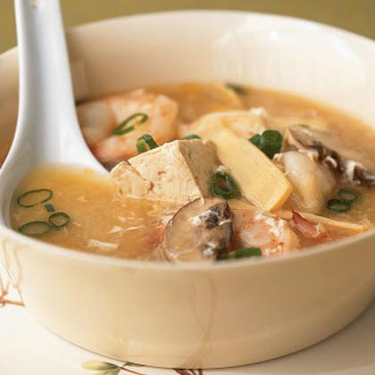 <p>Hot and Sour Soup with Shrimp</p>