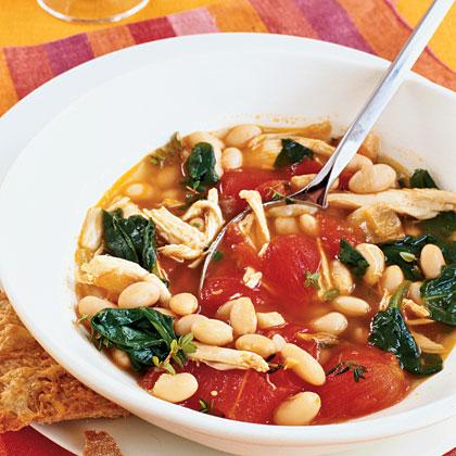 Chicken, White Bean, and Spinach Stew