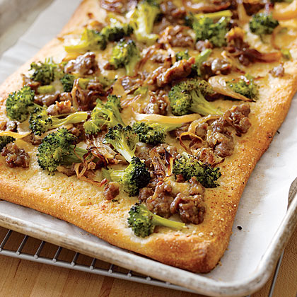 Broccoli and Sausage Focaccia