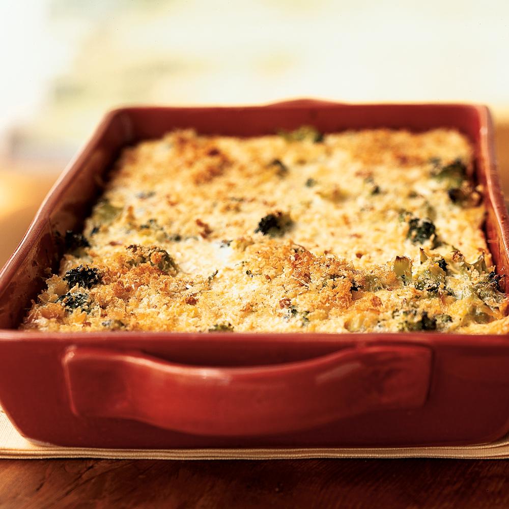 Broccoli and Three-Cheese Casserole