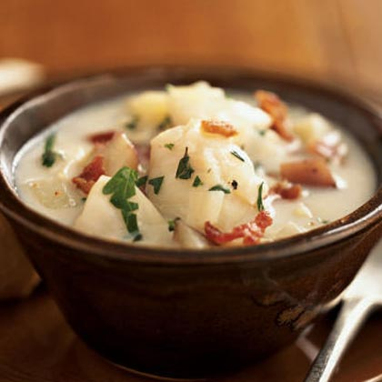 Herbed fish and red potato chowder recipe myrecipes for Healthy fish chowder