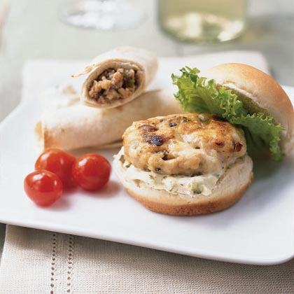 Mini Turkey Burgers with Gorgonzola Recipe