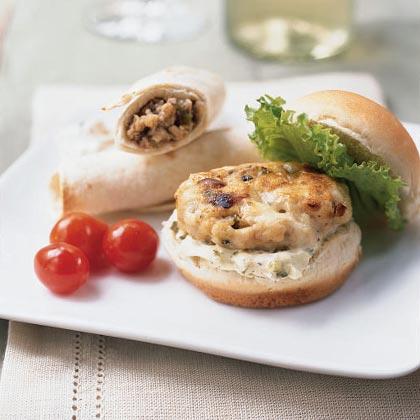 Mini Turkey Burgers with Gorgonzola