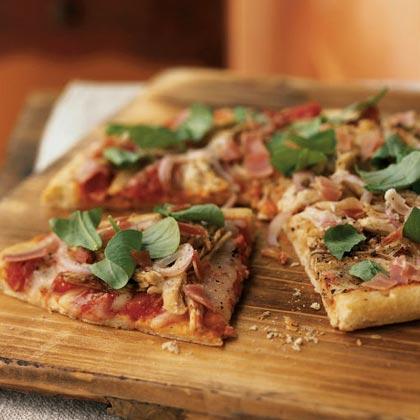 Roast Turkey and Prosciutto Pizza
