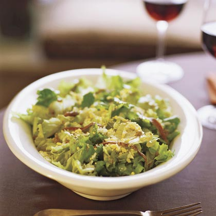 Escarole Salad with Chopped Egg and Anchovy Vinaigrette