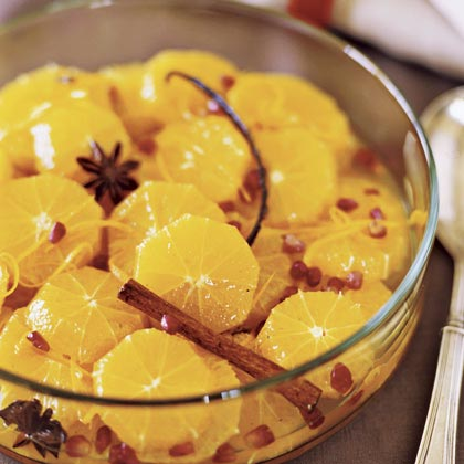 Sparkling Oranges RecipeLayer oranges, pomegranate seeds, and a zesty spice sauce in a clear bowl for a dessert that's big on presentation and fresh flavor.