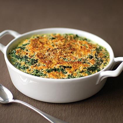 Creamed Spinach Gratin Recipe