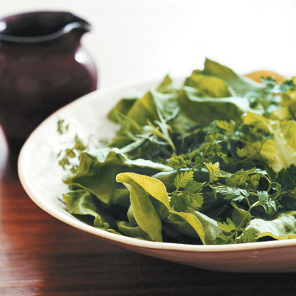Tender Greens with Champagne Vinaigrette Recipe