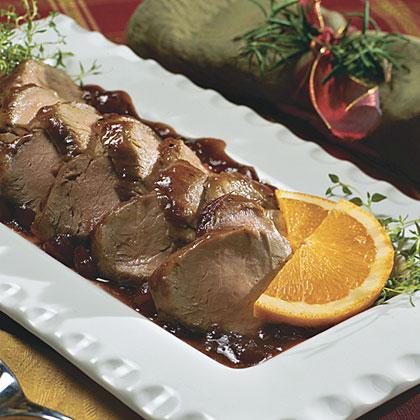 Orange-Cranberry-Glazed Pork Tenderloin