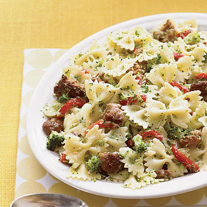 Bowties with Broccoli and Sausage Recipe