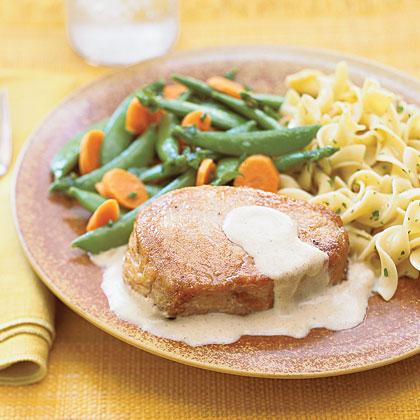 Pork Chops with Mustard Sauce Recipe