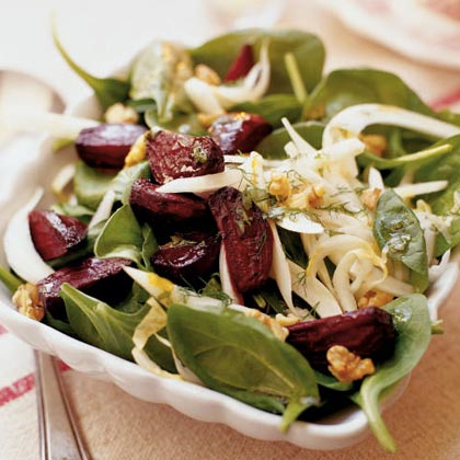 Roasted Beet, Fennel, and Walnut Salad