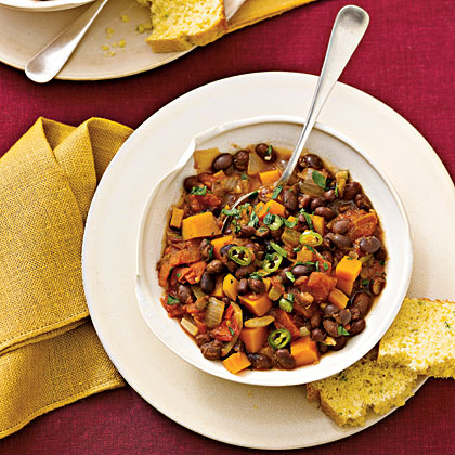 blck-bean-chili-squash Recipe