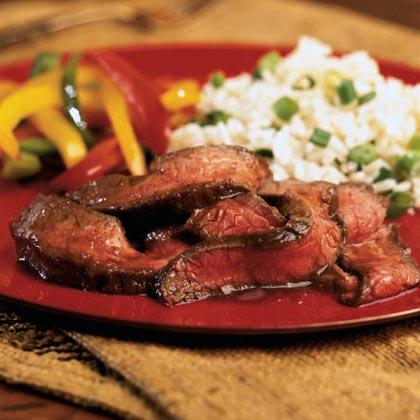 Ponzu-Glazed Flank Steak