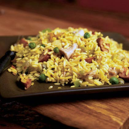 One-Dish Chicken and Kielbasa Rice Recipe