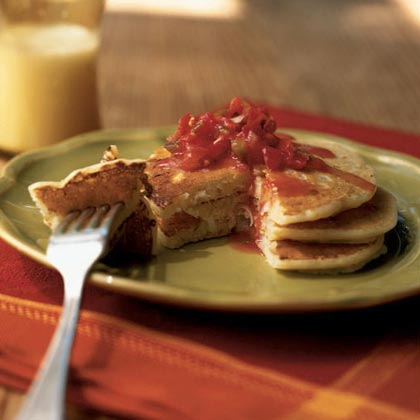 Leek and Cheddar Pancakes