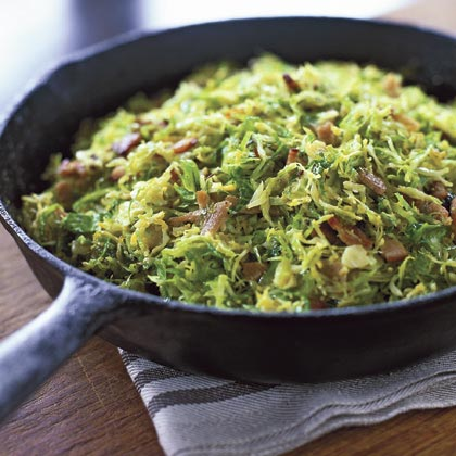 Shaved Brussels Sprouts with Pancetta Recipe
