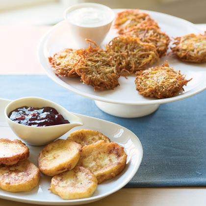 Sweet Potato-Parsnip Latkes Recipe