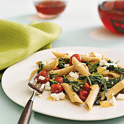 penne-spinach-feta Recipe