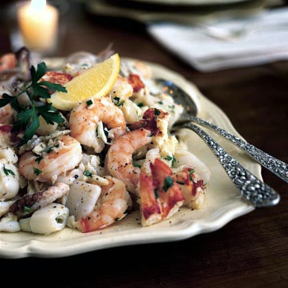 Mixed seafood salad recipe myrecipes mixed seafood salad forumfinder Images