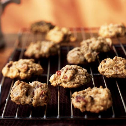 Cranberry-Nut Chocolate Chip Cookies RecipeDried cranberries and chopped walnuts are the not-so-secret ingredient in these festive cookie creations. The best part? Each cookie has just 75 calories and less than 3 grams of fat.