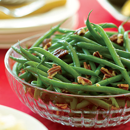 Brown-Butter Green Beans with Pecans Recipe