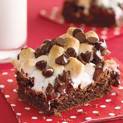 Fudgy Marshmallow Topped Brownies Recipe Myrecipes