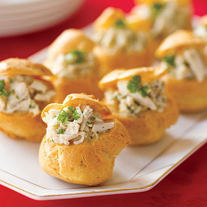 Stuffed cheese puffs recipe myrecipes for Appetizers to make at home