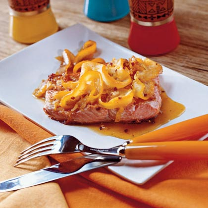 Salmon with Orange Pan Sauce
