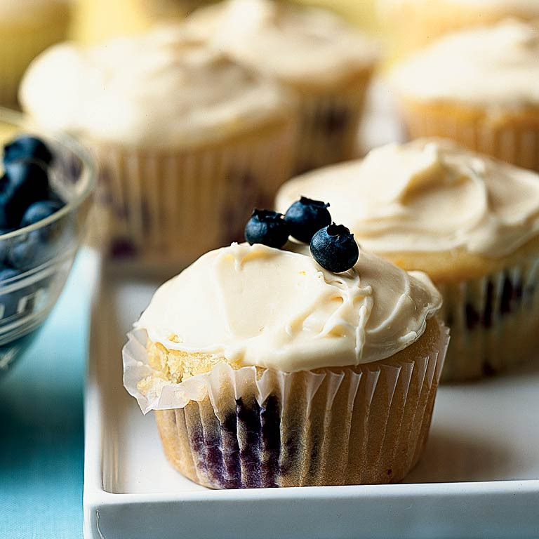Lemon-Scented Blueberry Cupcakes