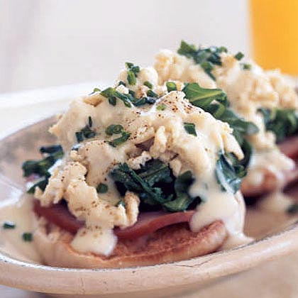 Eggs Benedict Florentine with Creamy Butter Sauce Recipe
