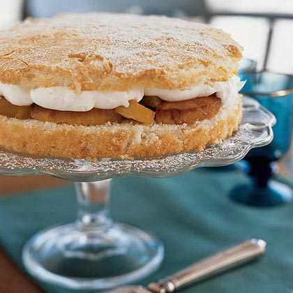 Macaroon Shortcake with Roasted Pineapple Recipe