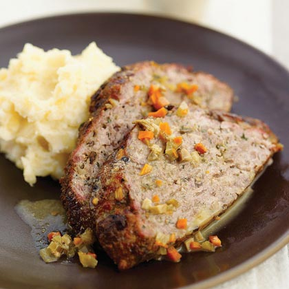Porcini Mushroom Meat Loaf with Mushroom Gravy