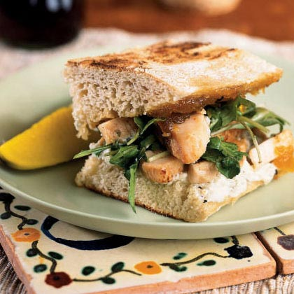 Chicken Panini with Fig Jam