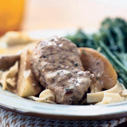 Pork Medallions with Double-Apple Sauce
