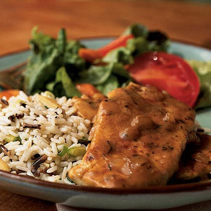 Smothered Pork Chops with Thyme Recipe