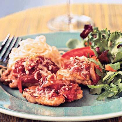 Spicy Pork Parmesan Cutlets
