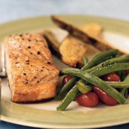 Roasted Salmon with Fresh VegetablesRecipe