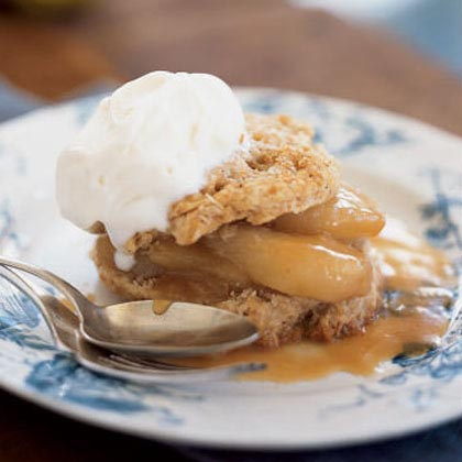 Spiced Shortcakes with Sautéed Pears