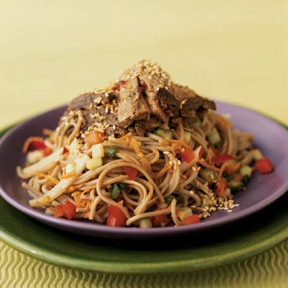 Soba Noodle Salad with Seared Tuna