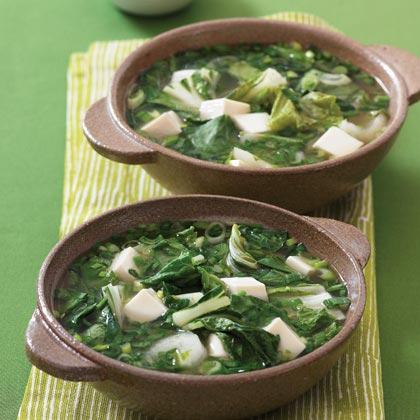 Asian Greens and Tofu Soup Recipe