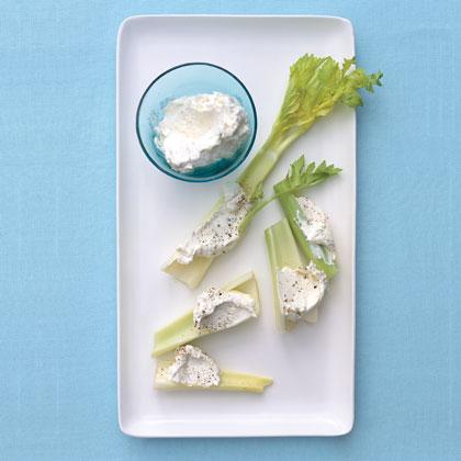 Horseradish Cream Cheese and Celery