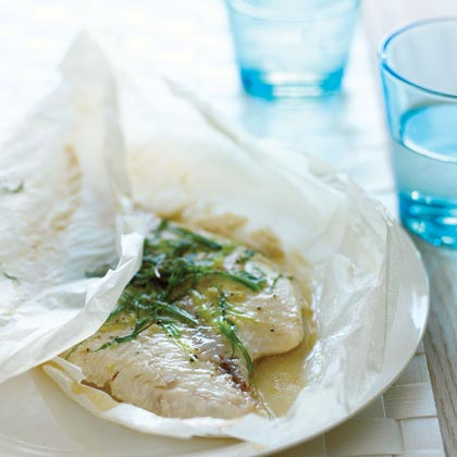 Green Onion and Sesame Parchment-baked Fish
