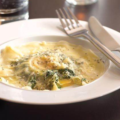 Tabla Mediterranean Bistro Magical Egg Ravioli Recipe