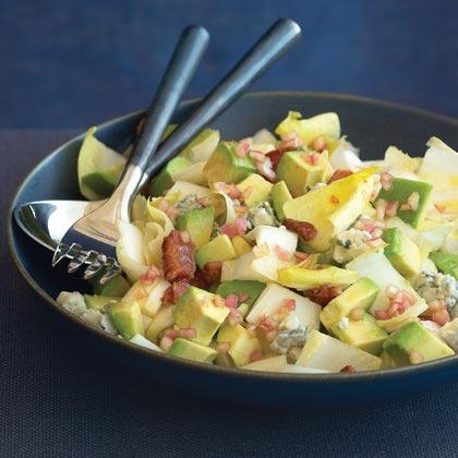 Endive Salad with Bacon, Gorgonzola, and Avocado