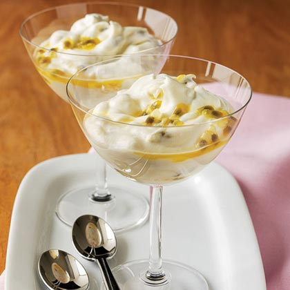 A fool is a simple pudding of sweetened whipped cream studded with bits of tangy fruit and is ideal for this first day of April.Passion-fruit Fool Recipe