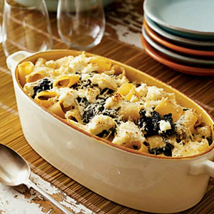 Baked Rigatoni with Ricotta and Collard Greens Recipe